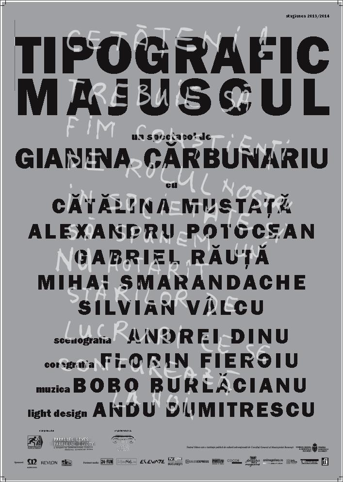 Afiș Tipografic majuscul