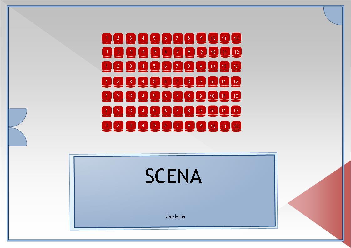 Sala Studio - Plan sala spectacol Gardenia
