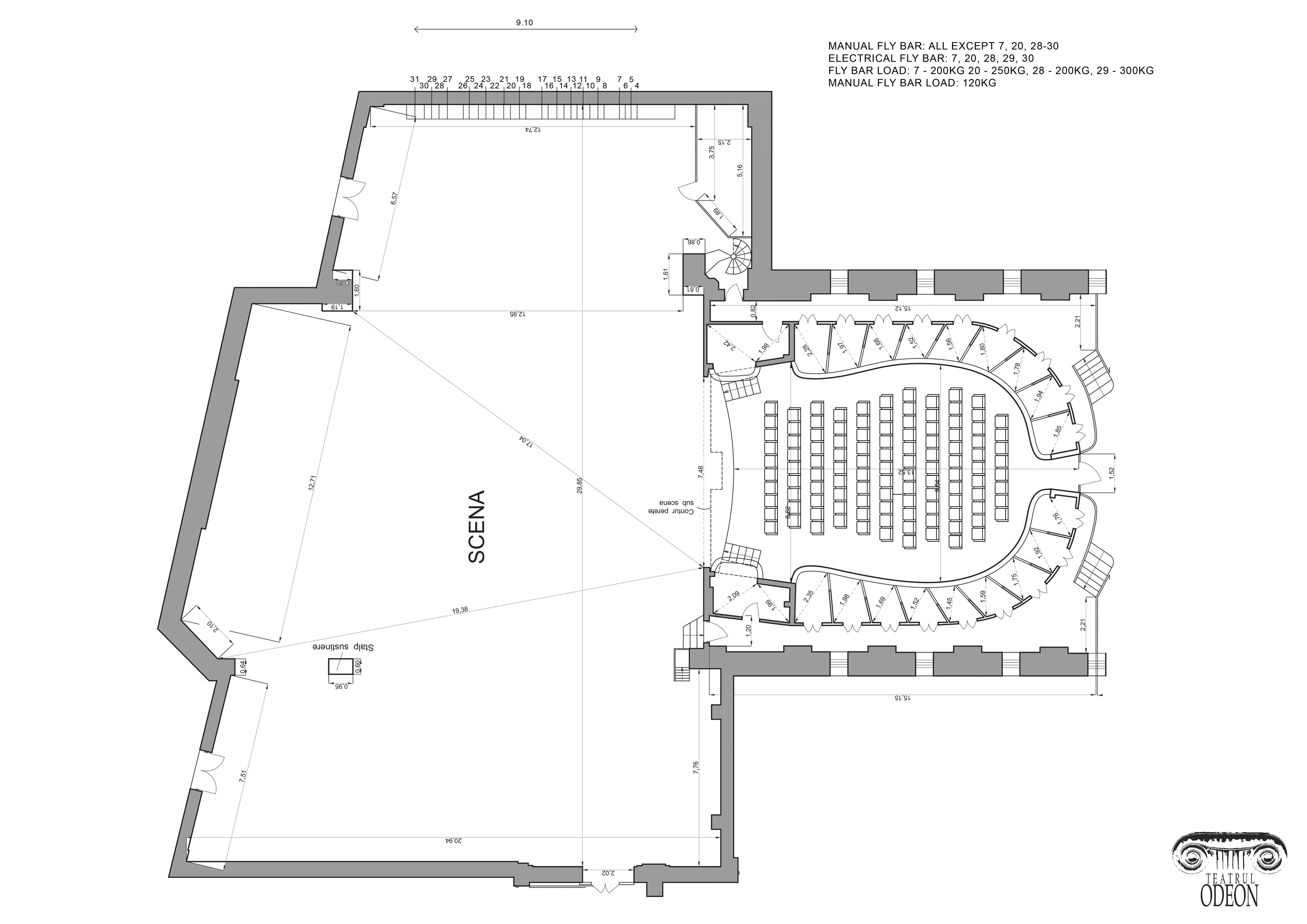 Sala Majestic - plan scenă